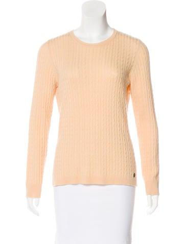 Carolina Herrera Wool-Cashmere Cable Knit Sweater None