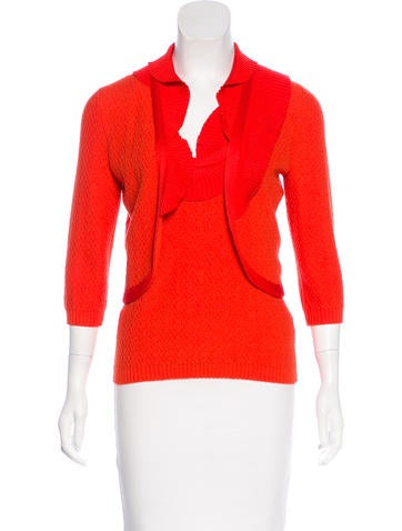 Carolina Herrera Wool & Silk-Blend Cardigan Set None