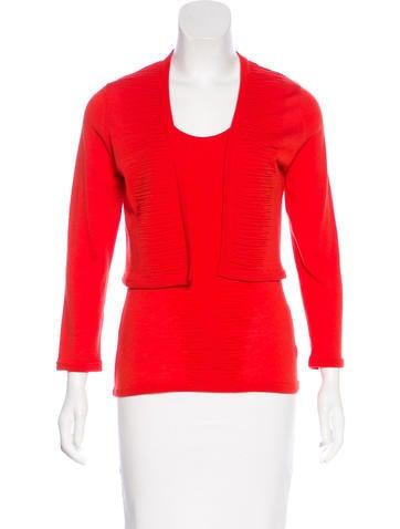 Carolina Herrera Wool Cropped Cardigan Set None