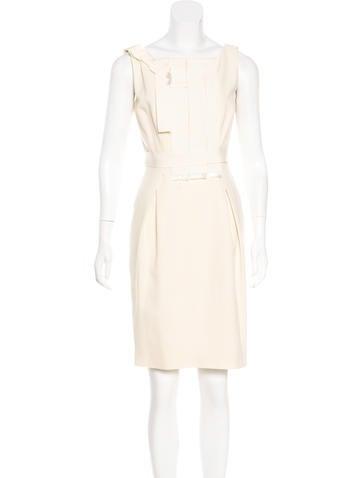 Carolina Herrera Virgin Wool Sheath Dress None