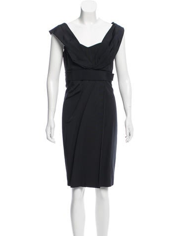 Carolina Herrera Draped Sleeveless Dress None