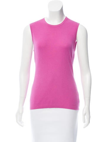 Carolina Herrera Cashmere Sleeveless Top None
