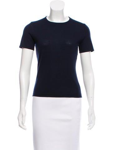 Carolina Herrera Cashmere Short Sleeve Top None