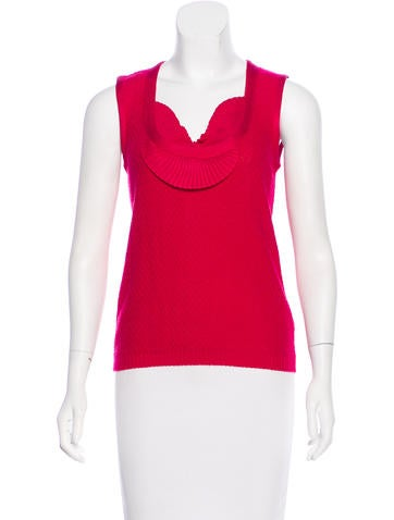 Carolina Herrera Silk & Wool-Blend Top None