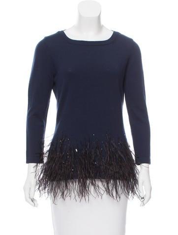Carolina Herrera Embellished Virgin Wool Sweater None