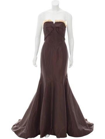Carolina Herrera Sleeveless Evening Gown None