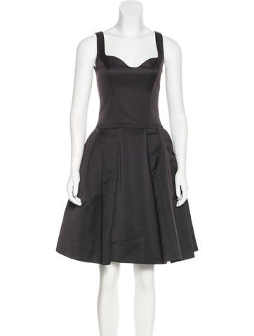 Carolina Herrera Sleeveless Mini Dress None