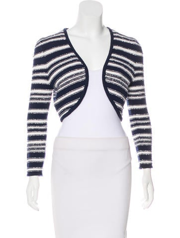 Carolina Herrera Cropped Knit Cardigan None