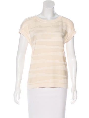 Carolina Herrera  Virgin Wool & Silk-Blend Knit Top None