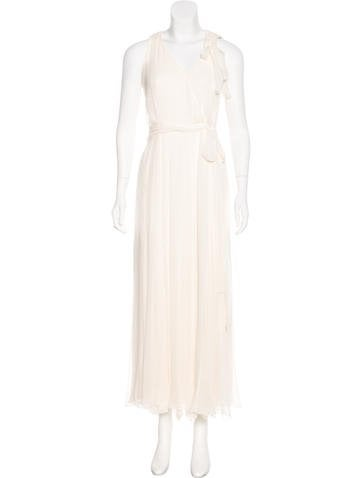Carolina Herrera Crepe Sleeveless Gown None