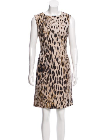 Carolina Herrera Sleeveless Jacquard Dress None
