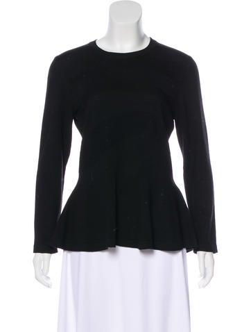 Carolina Herrera Virgin Wool Long Sleeve Top None