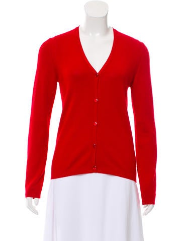 Carolina Herrera Cashmere and Silk-Blend Button-Up Cardigan None