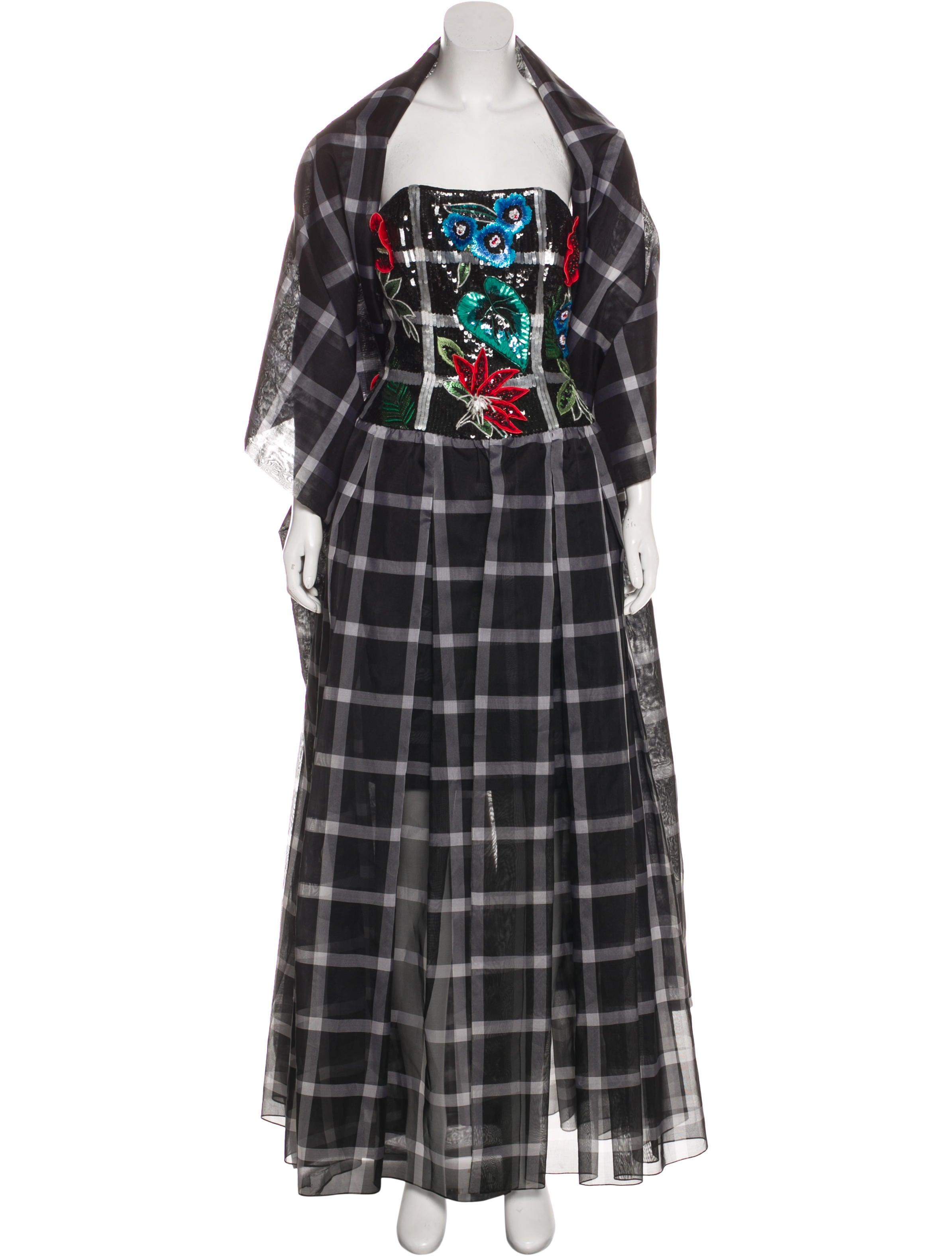 Carolina Herrera Embellished Evening Gown - Clothing - CAO36501 ...