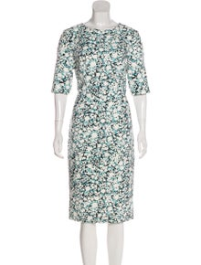 df53da816e4d2 Carolina Herrera. Printed Midi Dress w/ Tags. Size: ...