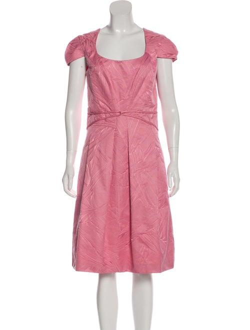 Carolina Herrera Jacquard Midi Dress w/ Tags Pink