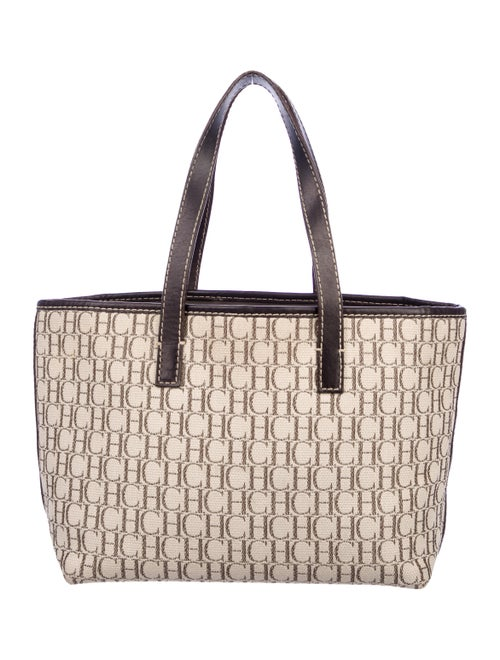 Carolina Herrera Small Monogram Tote Handbags Cao44993 The Realreal