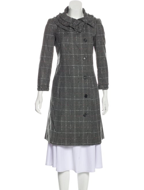 Carolina Herrera Wool Boucle' Coat Grey