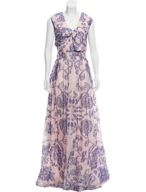 Carolina Herrera 2018 Fil Coupé Gown w/ Tags Pink