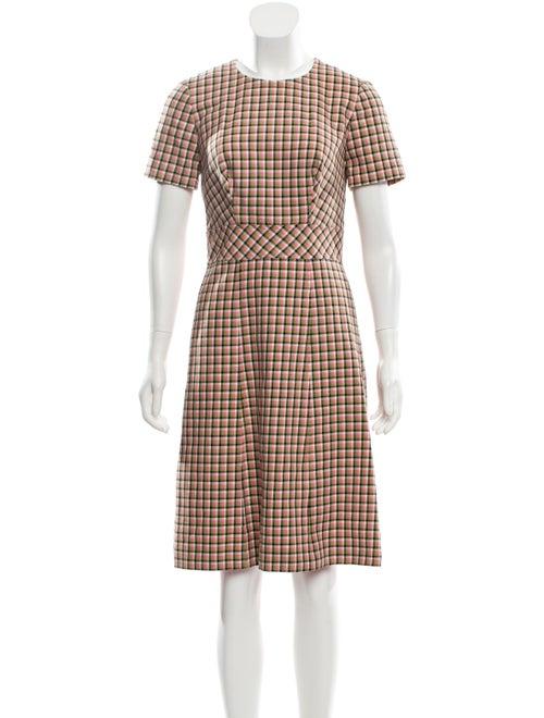 Carolina Herrera 2019 Gingham Dress w/ Tags Pink