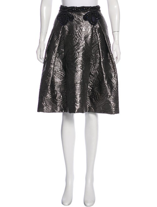 Carolina Herrera Embellished Metallic Skirt metall