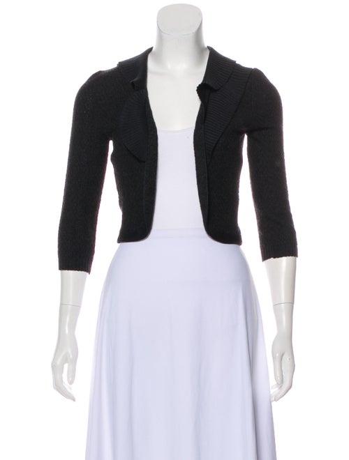 Carolina Herrera Textured Knit Cardigan Black