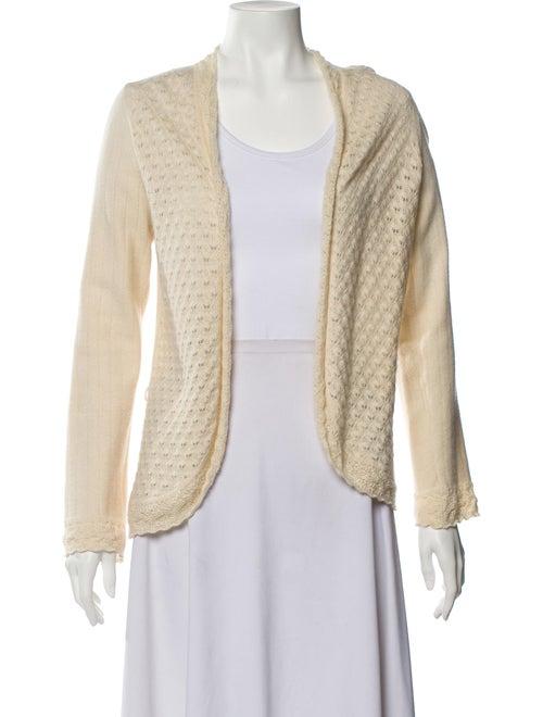 Carolina Herrera Cashmere Crochet-Trimmed Cardigan