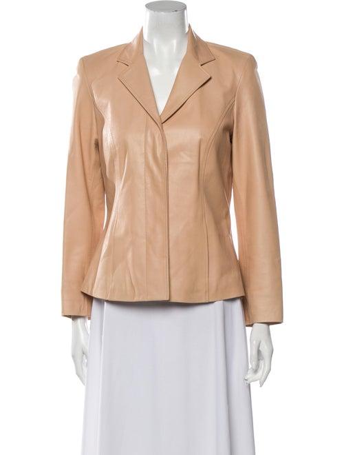 Carolina Herrera Leather Blazer