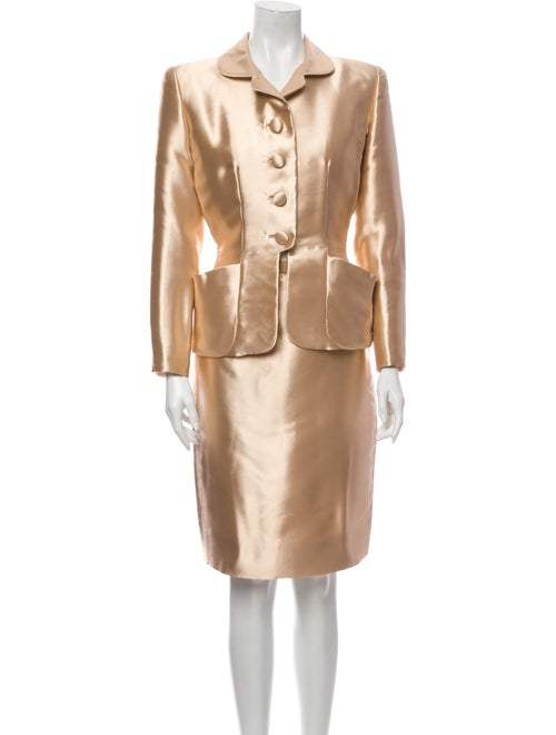 Carolina Herrera Vintage Skirt Suit Gold