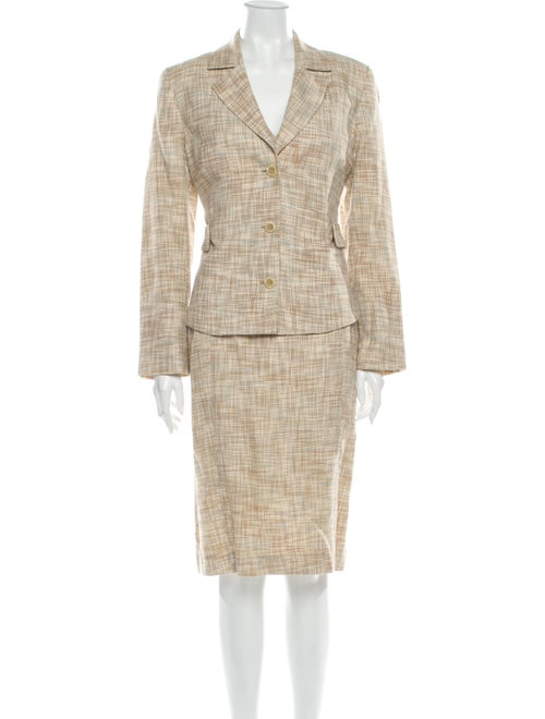 Carolina Herrera Tweed Pattern Dress Set