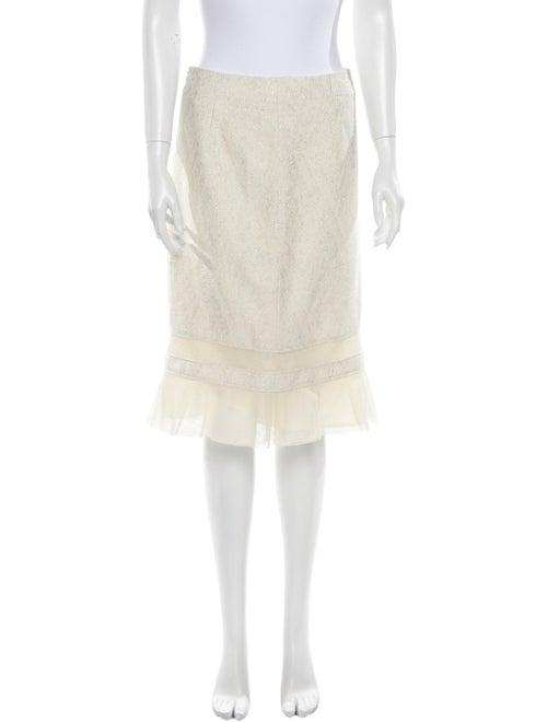 Carolina Herrera Knee-Length Skirt Metallic