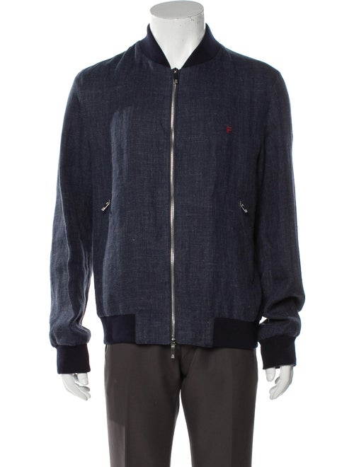 Carolina Herrera Linen Jacket Blue