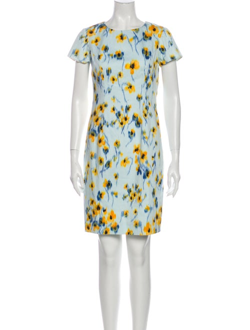Carolina Herrera Printed Mini Dress Blue