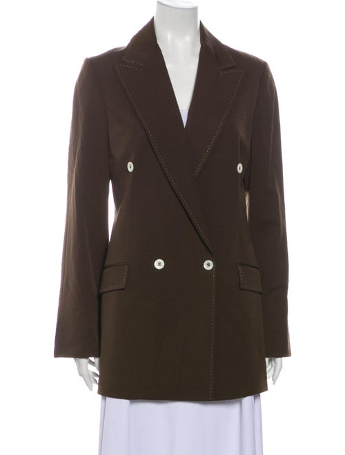Carolina Herrera Wool Peacoat Wool