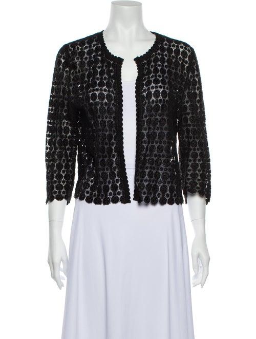 Carolina Herrera Lace Pattern Scoop Neck Sweater B