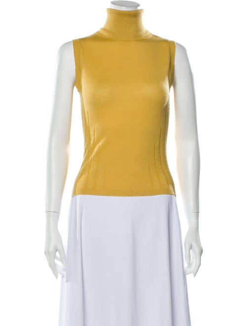 Carolina Herrera Cashmere Turtleneck Sweater Yello