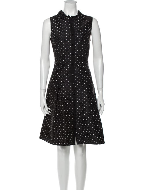 Carolina Herrera Silk Knee-Length Dress Black