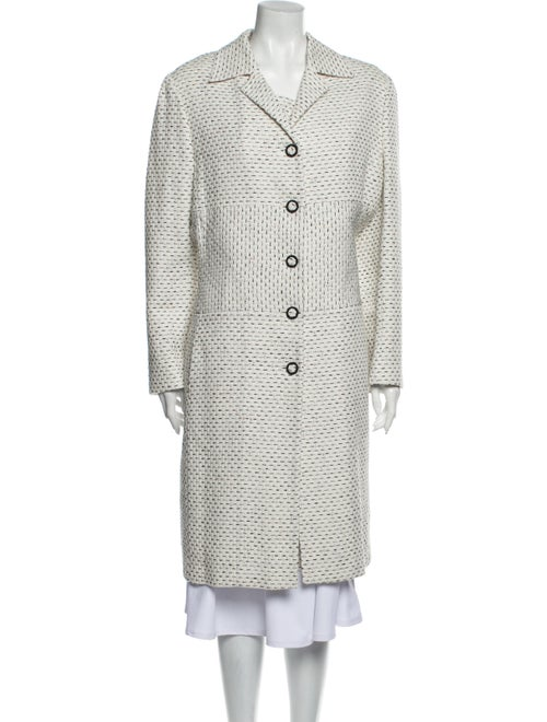 Carolina Herrera Tweed Pattern Dress Set White