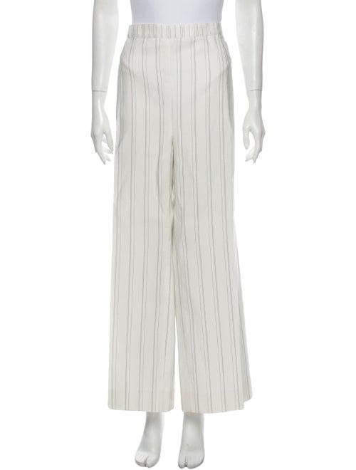 Carolina Herrera Striped Wide Leg Pants White