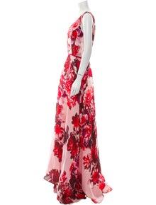 Carolina Herrera Silk Long Dress