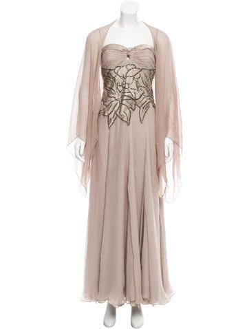 Carlos Miele Beaded Silk Dress