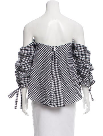 Off-The-Shoulder Gingham Top w/ Tags