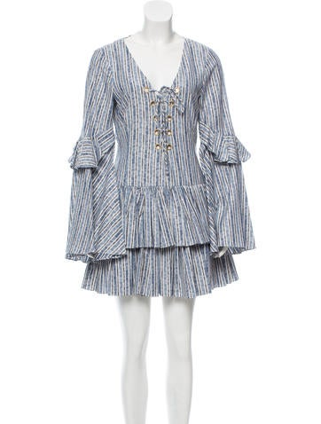 Caroline Constas Anastasia Jacquard Dress None