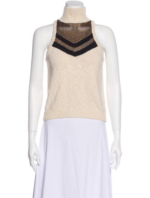 Caroline Constas Striped Turtleneck Sweater