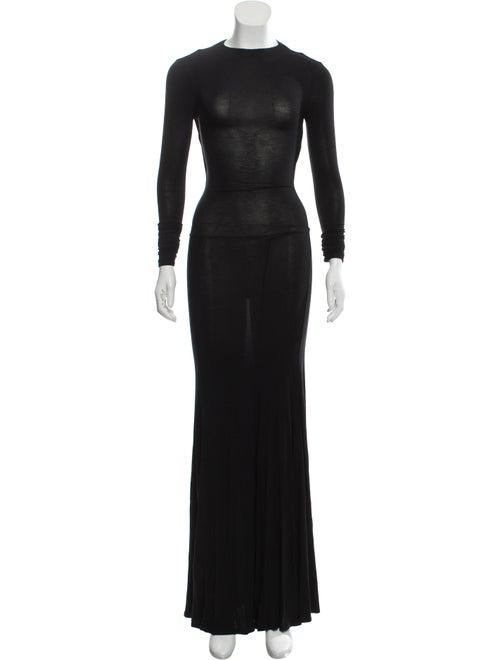 Caroline Constas Long Sleeve Maxi Dress Black