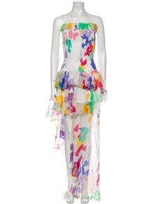 Caroline Constas Silk Long Dress w/ Tags