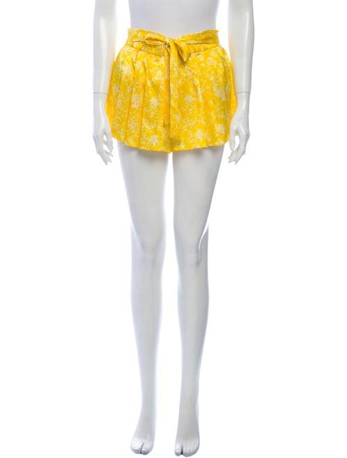 Caroline Constas Silk Mini Shorts