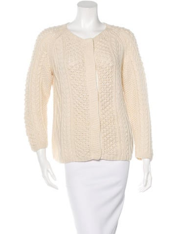 Chris Benz Cashmere Cable Knit Cardigan None