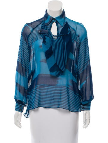Chris Benz Printed Long Sleeve Top None