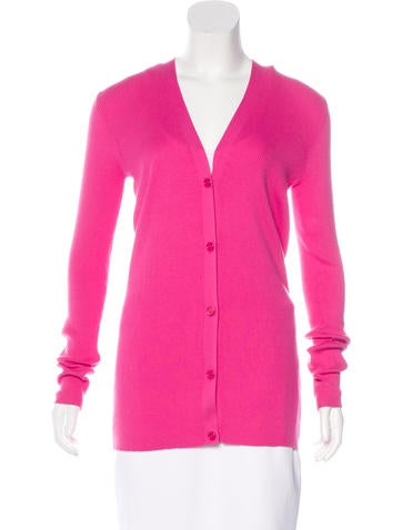 Chris Benz Rib Knit V-Neck Cardigan None